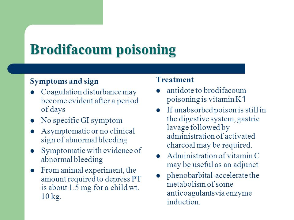 Brodifacoum poisoning