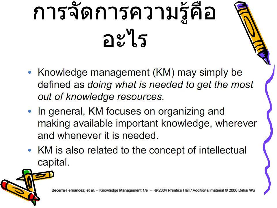 การจัดการความรู้คืออะไร