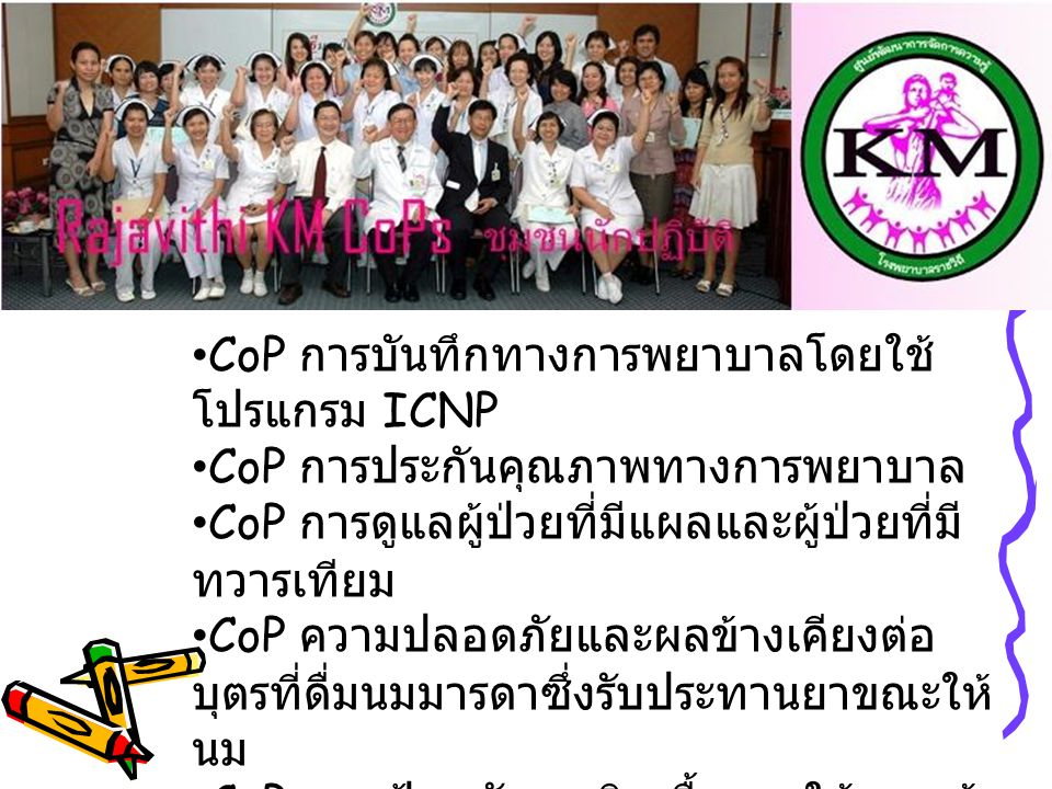 CoP การบันทึกทางการพยาบาลโดยใช้โปรแกรม ICNP