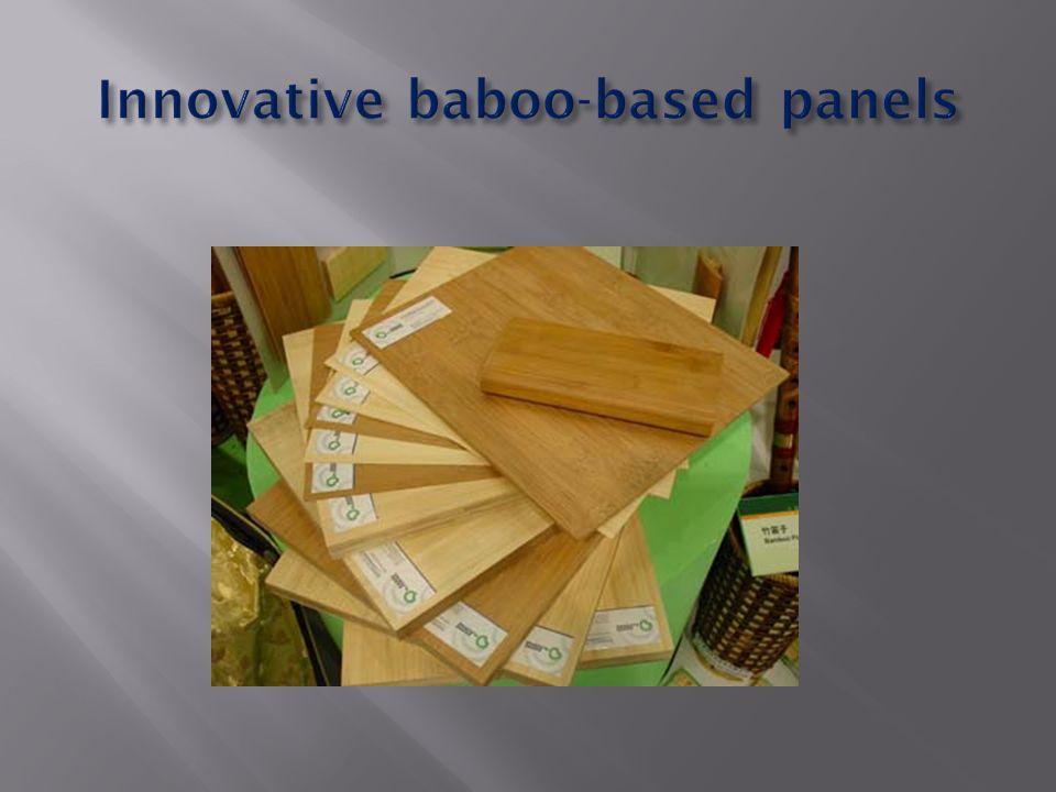 Innovative baboo-based panels
