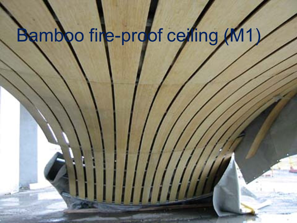 Bamboo fire-proof ceiling (M1)