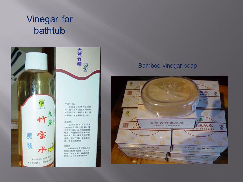 Vinegar for bathtub Bamboo vinegar soap