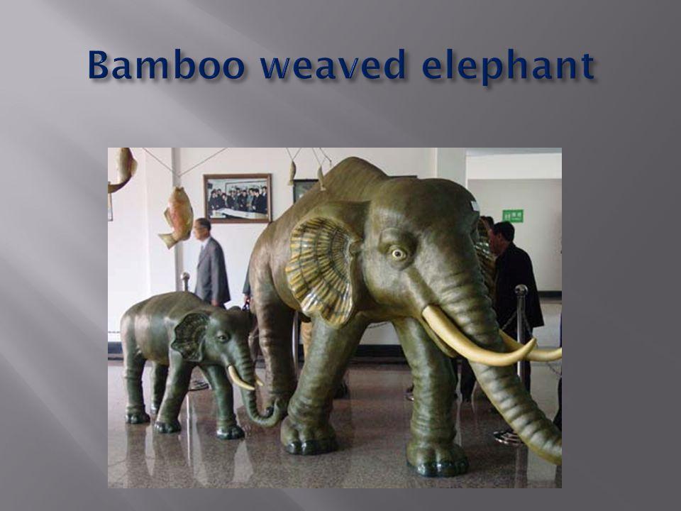Bamboo weaved elephant
