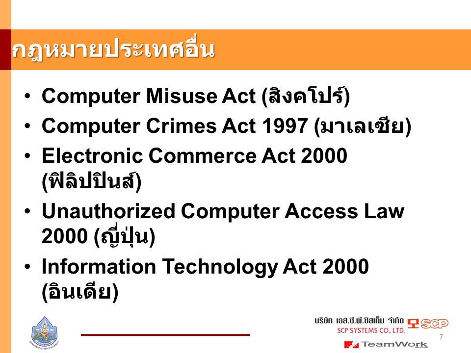 กฎหมายประเทศอื่น Computer Misuse Act (สิงคโปร์)