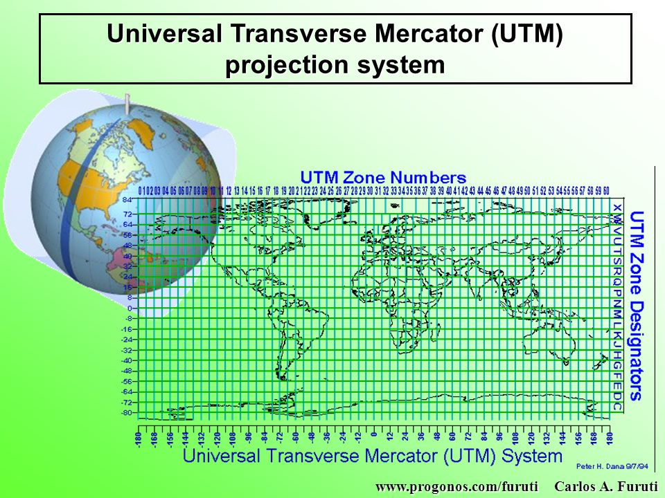 Universal Transverse Mercator (UTM) projection system