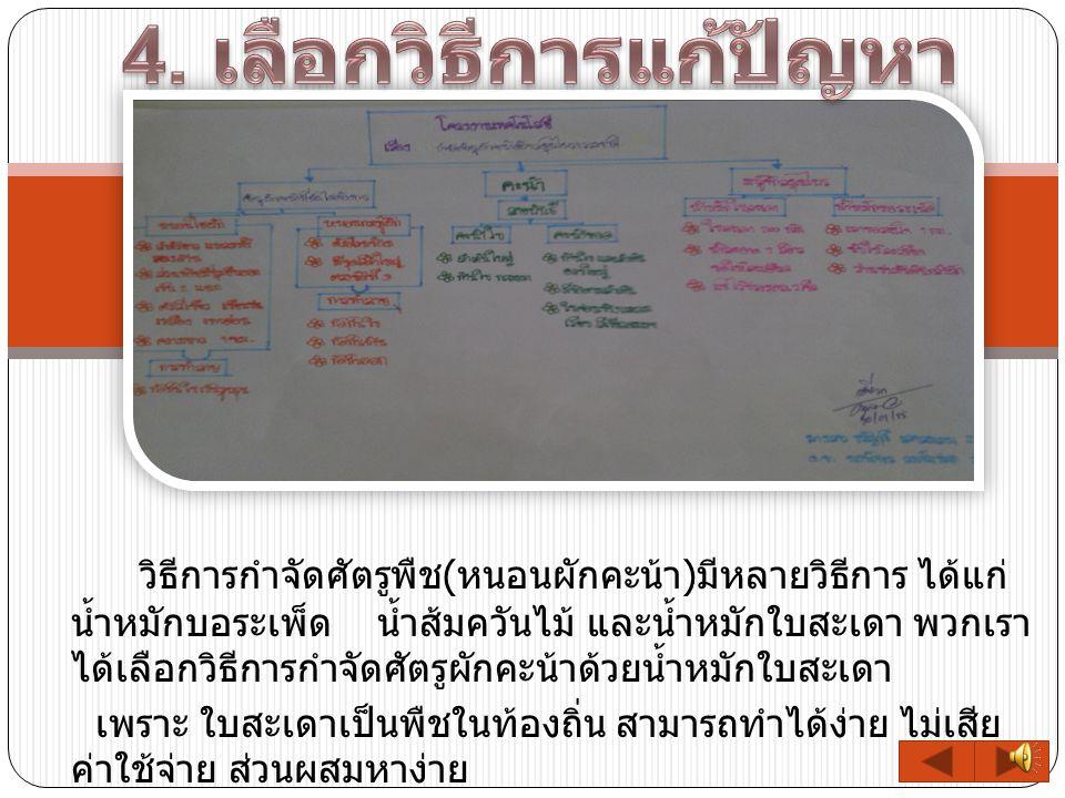 4. เลือกวิธีการแก้ปัญหา