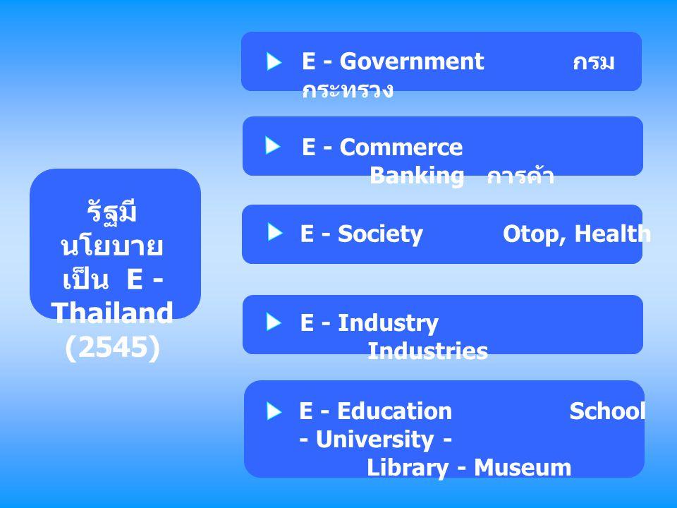 รัฐมีนโยบายเป็น E - Thailand (2545)