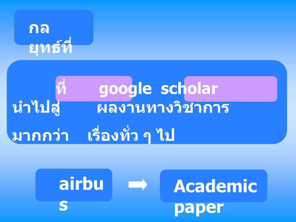 airbus Academic paper กลยุทธ์ที่ 3 มากกว่า เรื่องทั่ว ๆ ไป