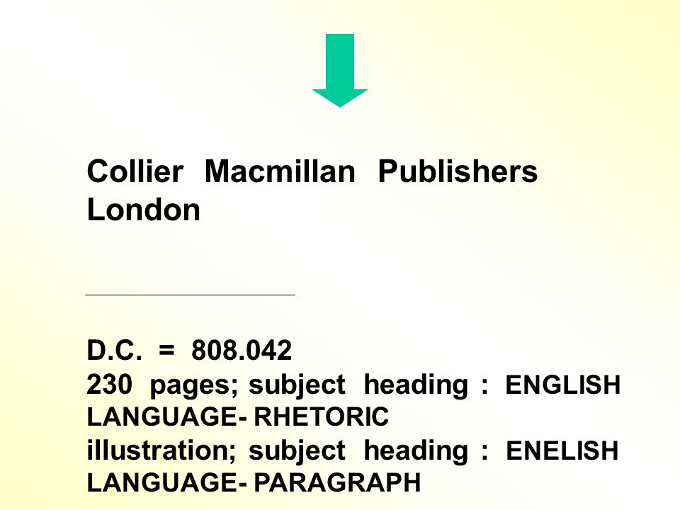 Collier Macmillan Publishers London