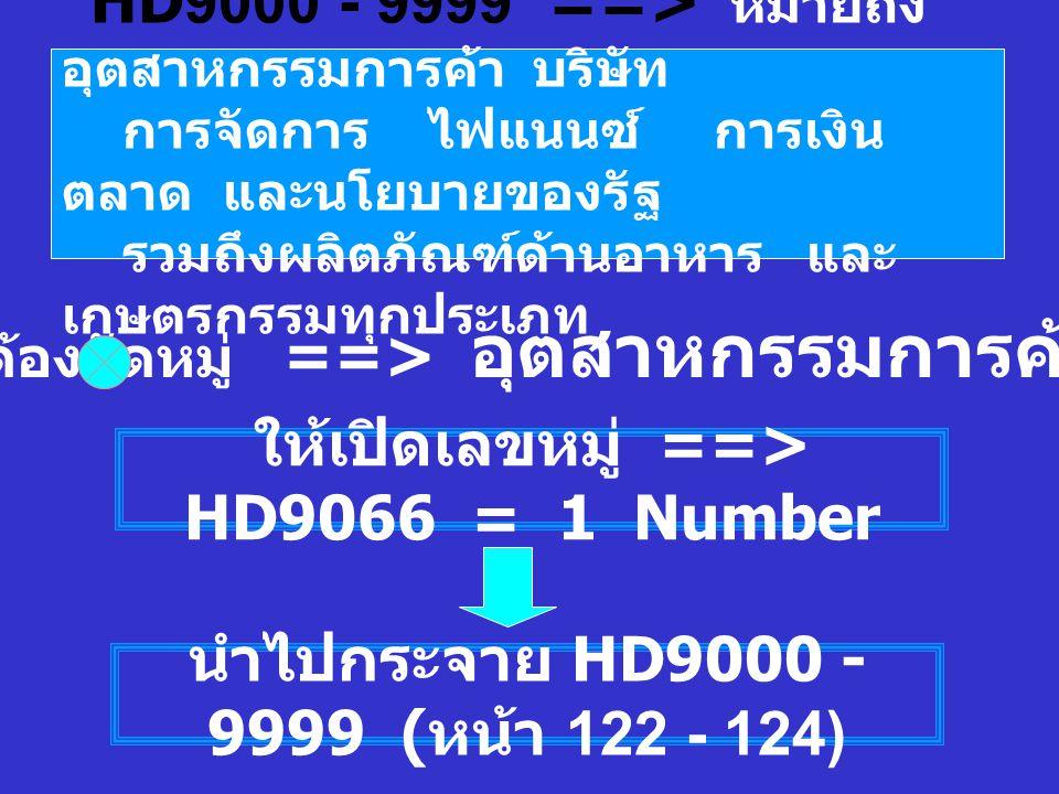 ให้เปิดเลขหมู่ ==> HD9066 = 1 Number