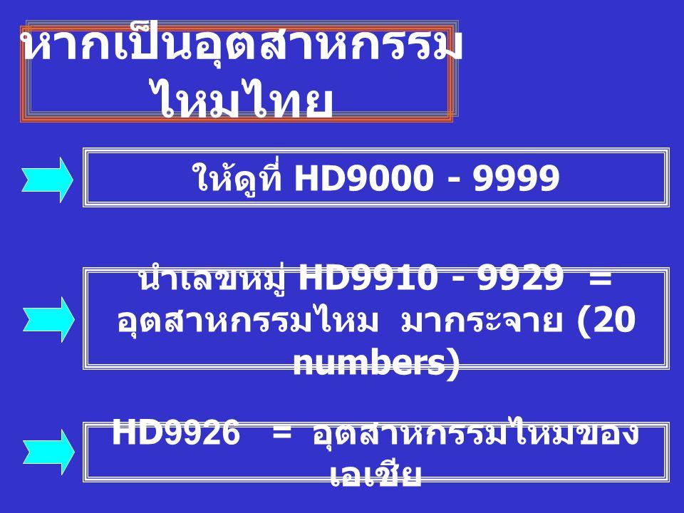หากเป็นอุตสาหกรรมไหมไทย