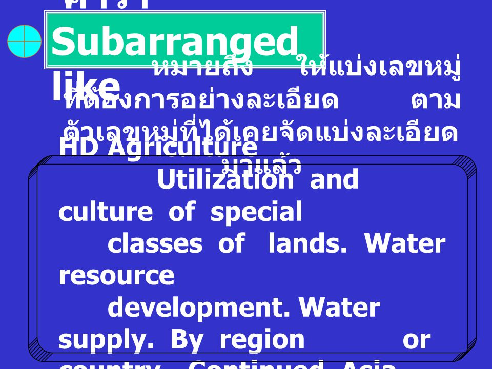 คำว่า Subarranged like