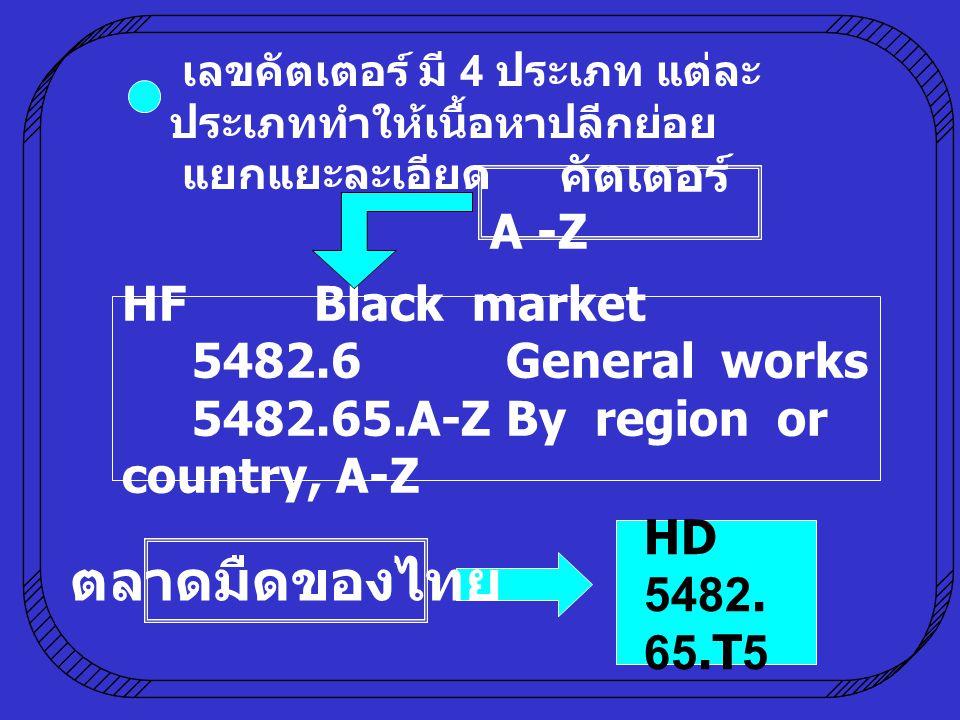 ตลาดมืดของไทย คัตเตอร์ A -Z