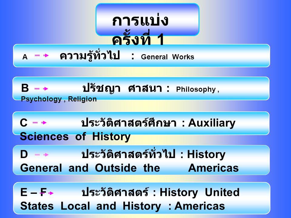 การแบ่งครั้งที่ 1 B ปรัชญา ศาสนา : Philosophy , Psychology , Religion