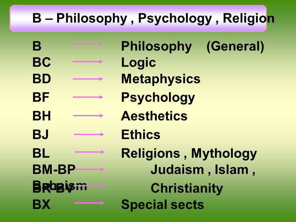 B – Philosophy , Psychology , Religion