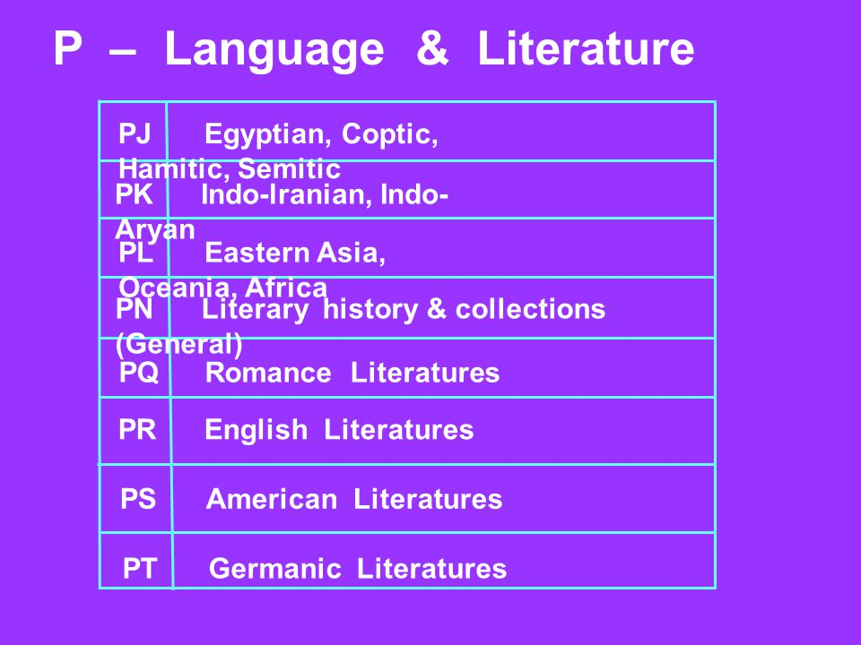P – Language & Literature