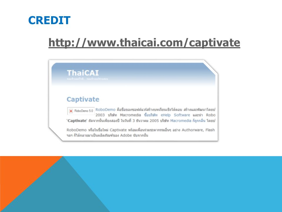 Credit http://www.thaicai.com/captivate