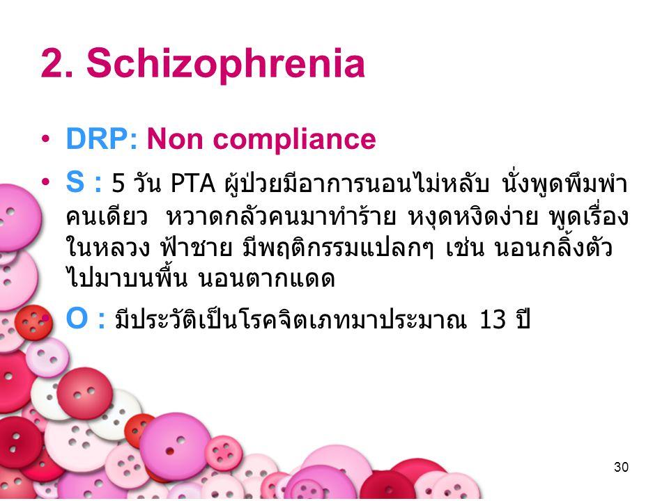2. Schizophrenia DRP: Non compliance