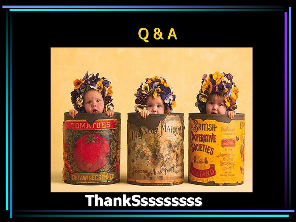 Q & A ThankSssssssss