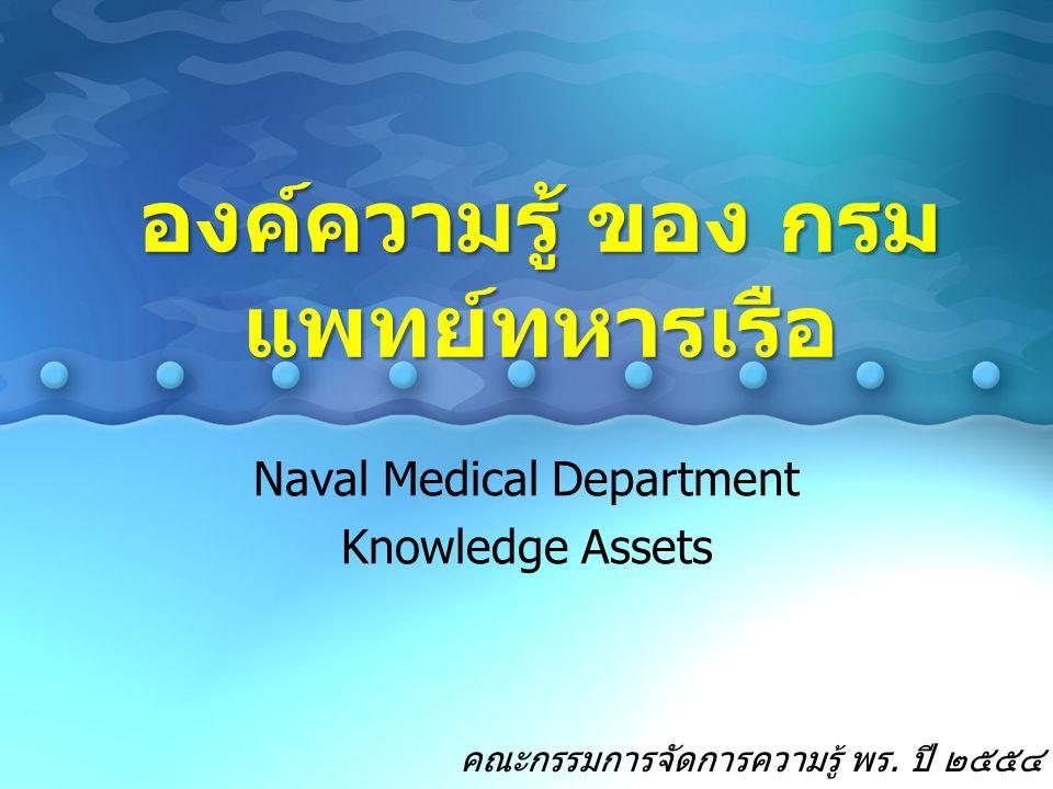 องค์ความรู้ ของ กรมแพทย์ทหารเรือ