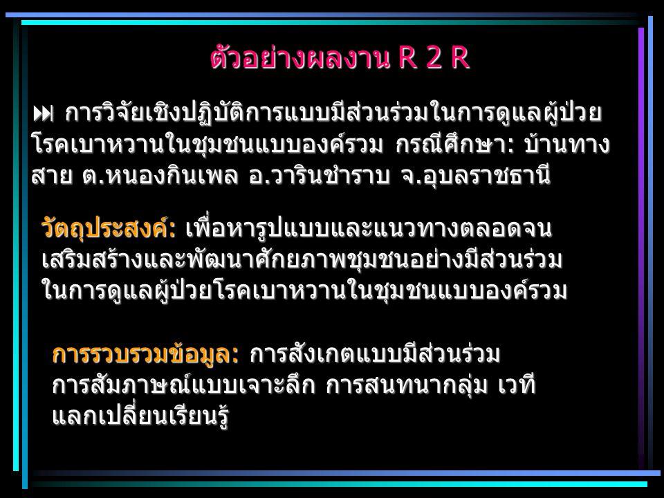 ตัวอย่างผลงาน R 2 R