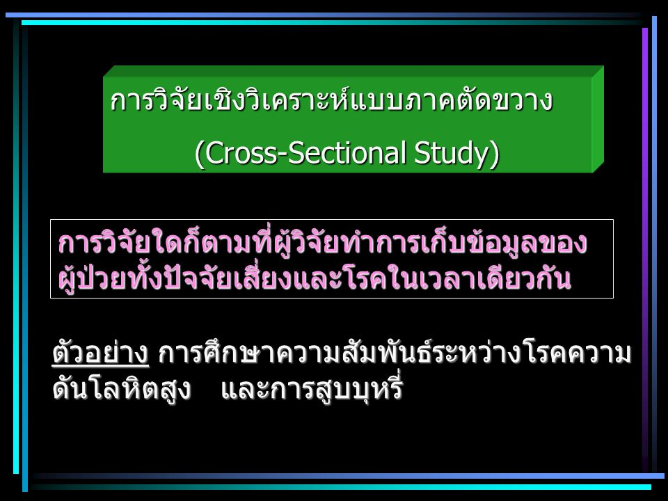 (Cross-Sectional Study)