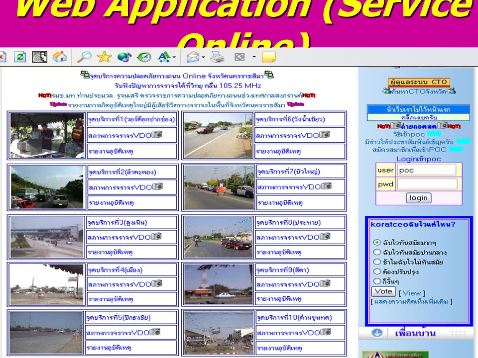 Web Application (Service Online)