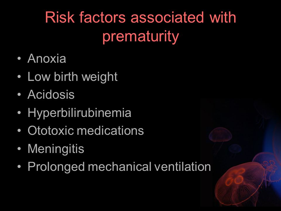 Risk factors associated with prematurity
