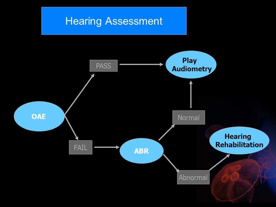 Hearing Assessment Play Audiometry PASS OAE Normal Hearing