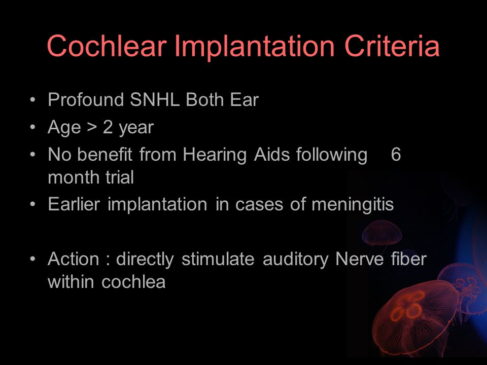 Cochlear Implantation Criteria