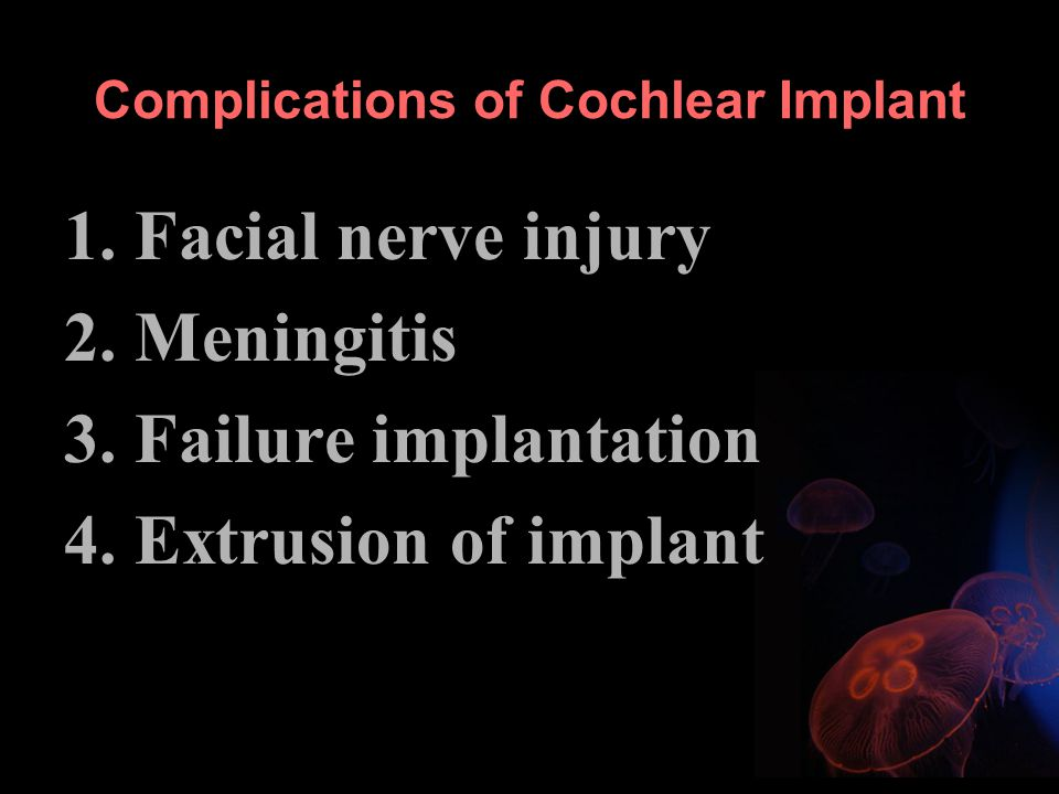 Complications of Cochlear Implant