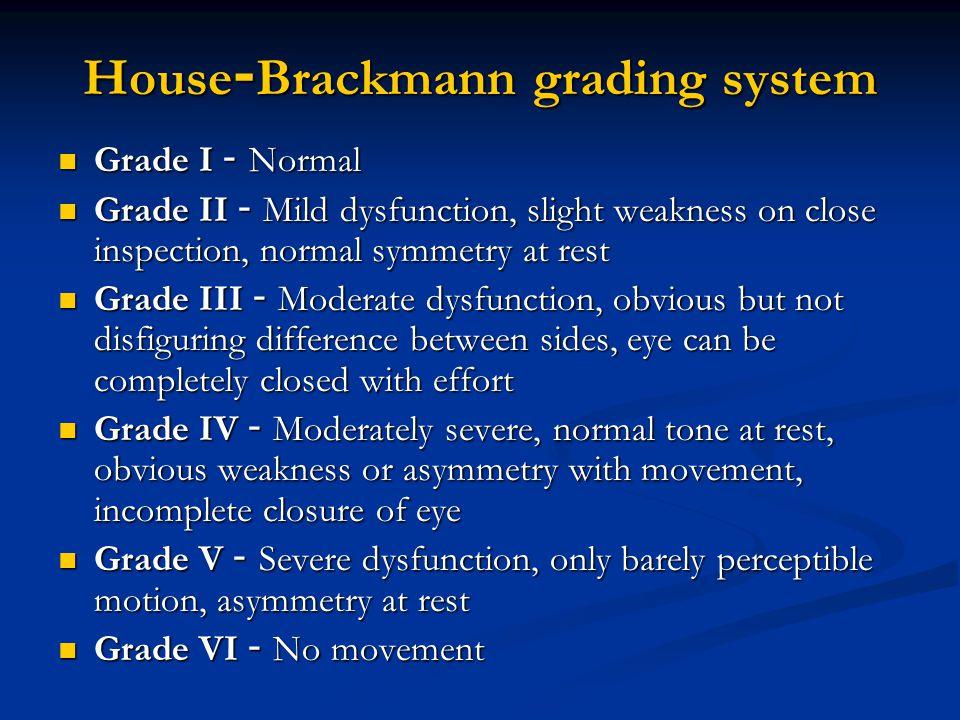 House-Brackmann grading system