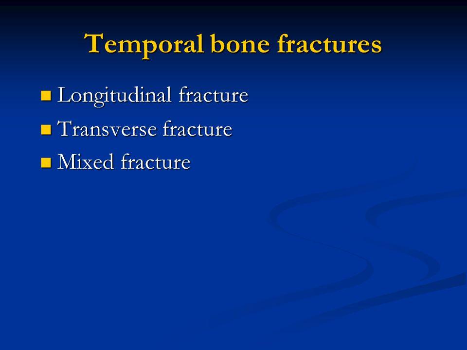 Temporal bone fractures