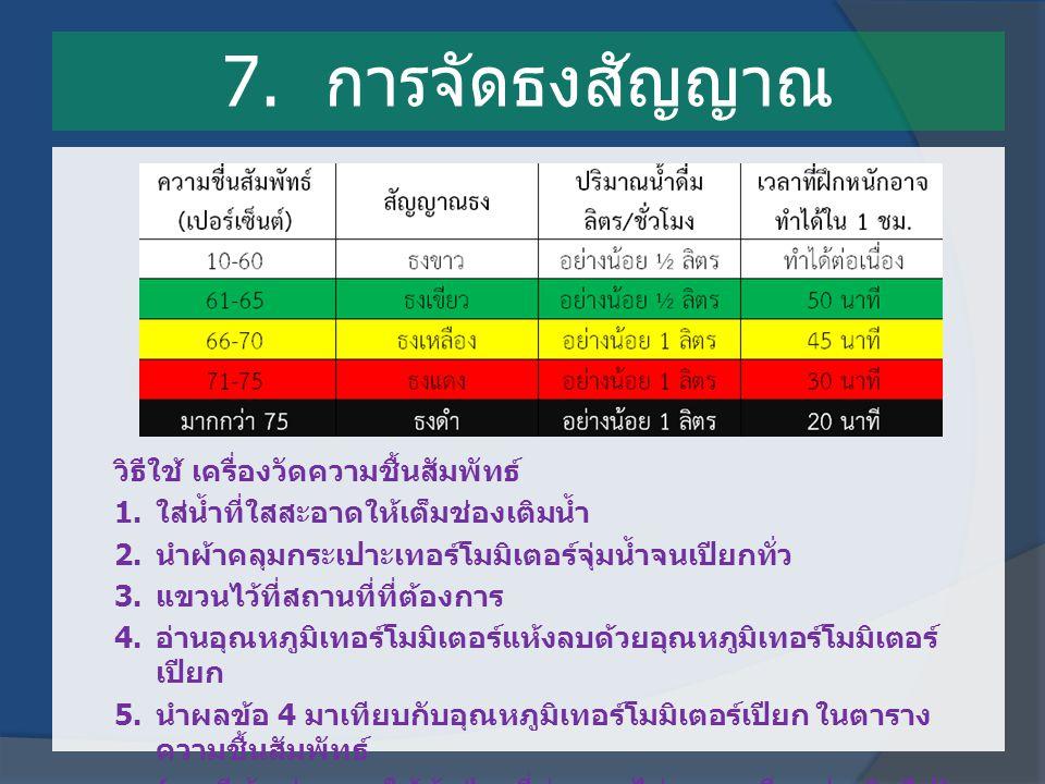 7. การจัดธงสัญญาณ