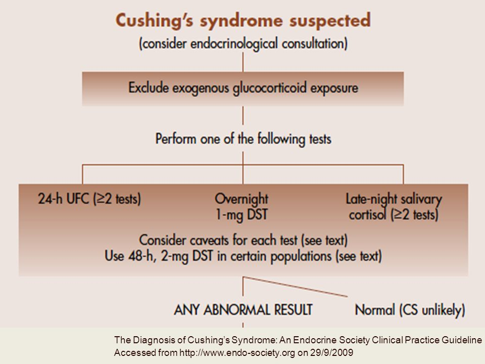 The Diagnosis of Cushing's Syndrome: An Endocrine Society Clinical Practice Guideline