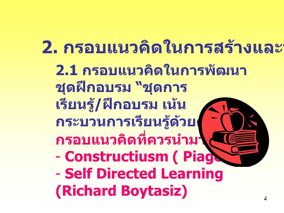 2. กรอบแนวคิดในการสร้างและพัฒนา
