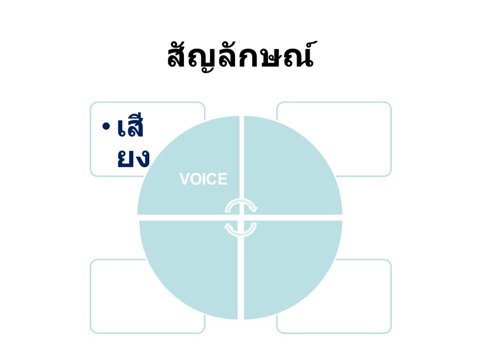 สัญลักษณ์ VOICE เสียง