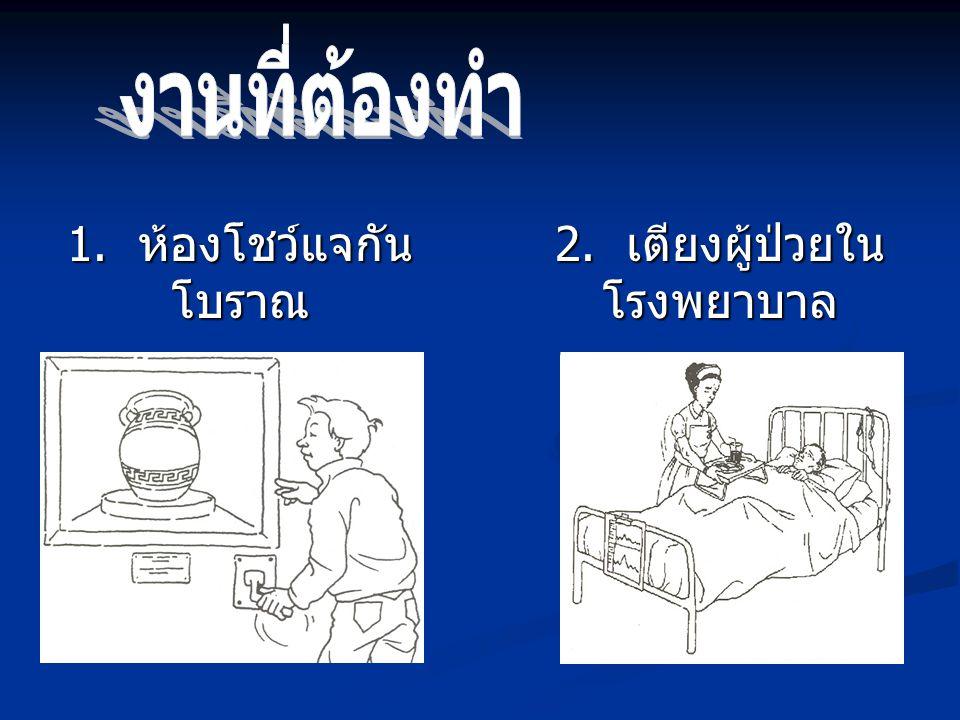 2. เตียงผู้ป่วยในโรงพยาบาล