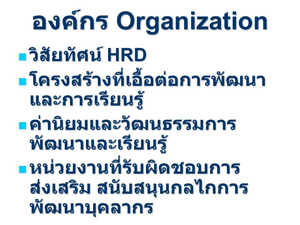 องค์กร Organization วิสัยทัศน์ HRD