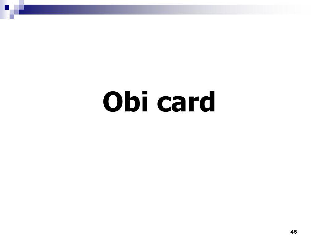 Obi card