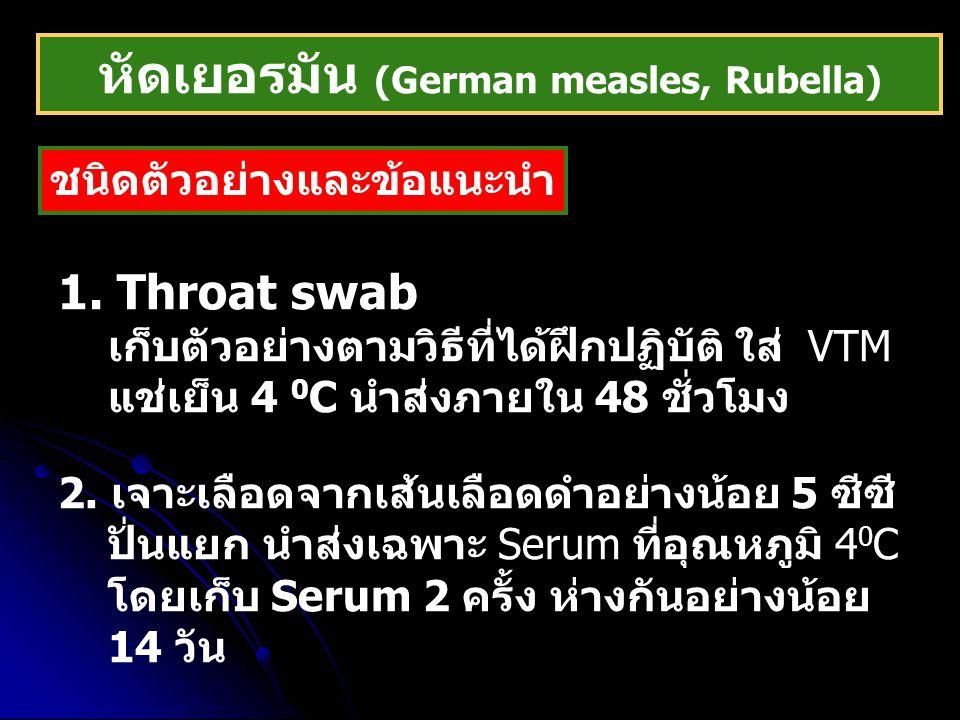 หัดเยอรมัน (German measles, Rubella)