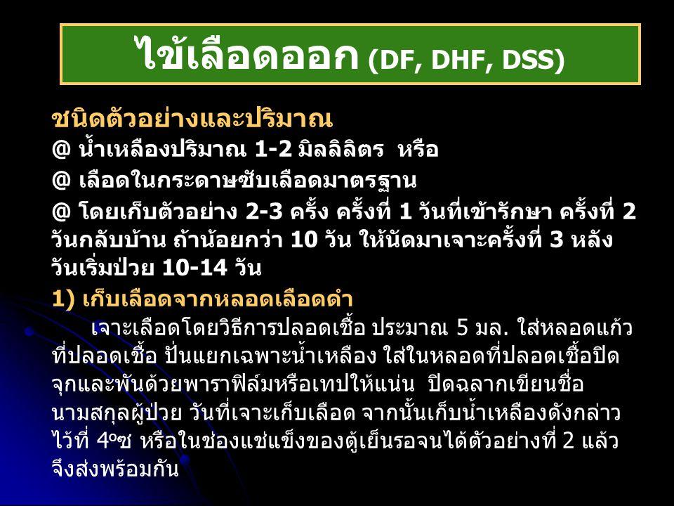 ไข้เลือดออก (DF, DHF, DSS)
