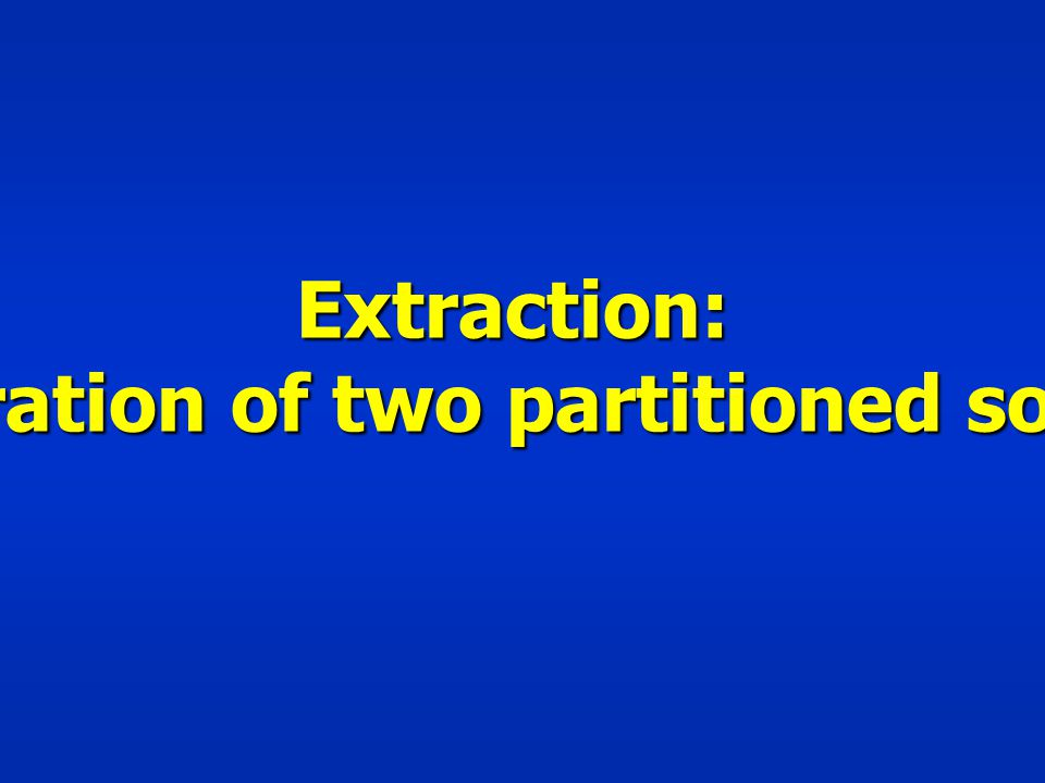 Separation of two partitioned solutes