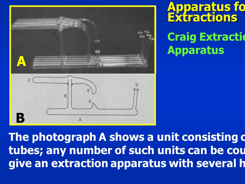 A B Apparatus for Extractions Craig Extraction Apparatus