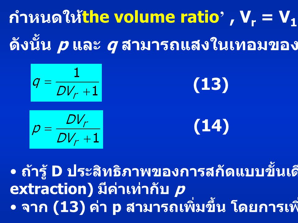 'the volume ratio' , Vr = V1/V2