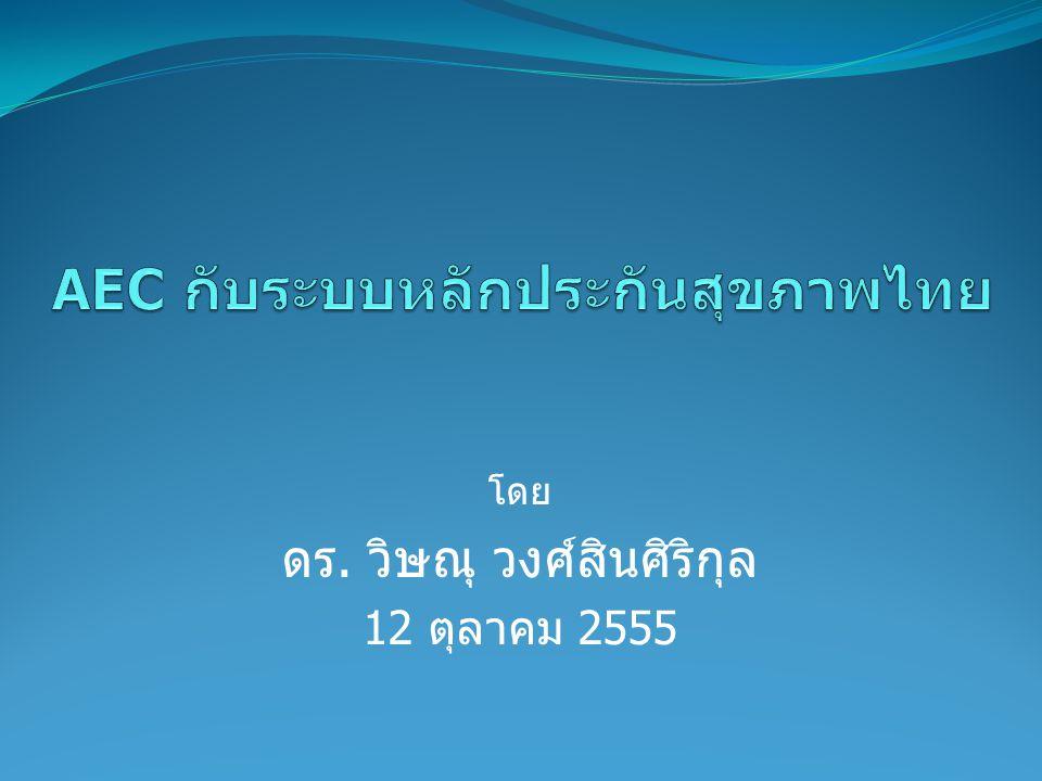 AEC กับระบบหลักประกันสุขภาพไทย