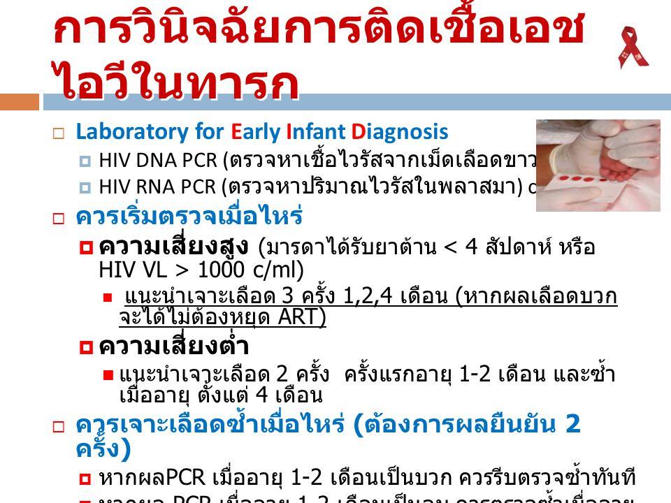 การวินิจฉัยการติดเชื้อเอชไอวีในทารก