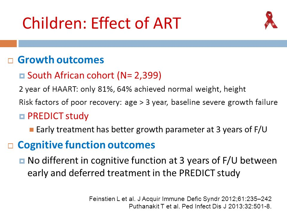 Children: Effect of ART