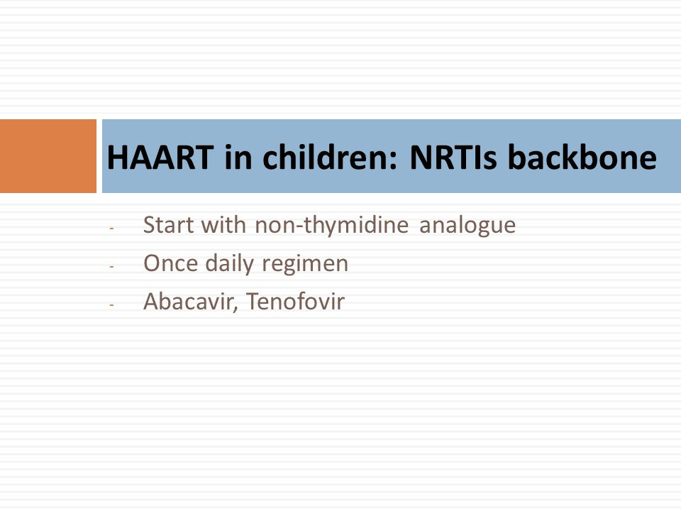 HAART in children: NRTIs backbone