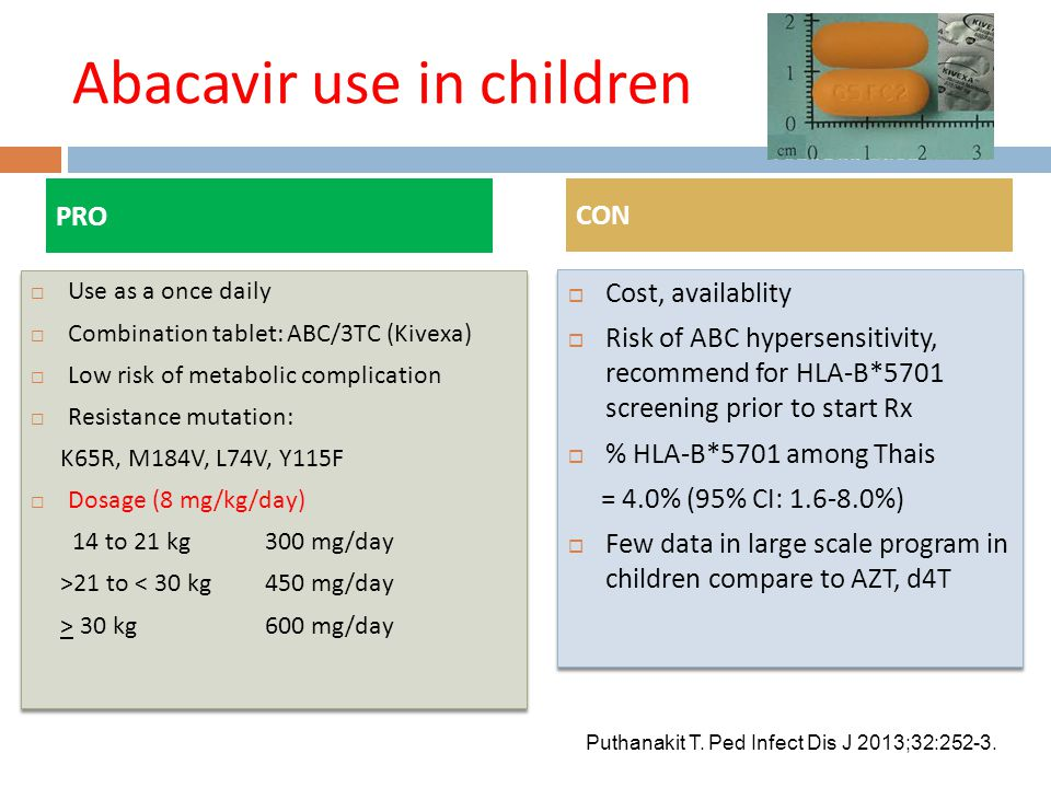 Abacavir use in children